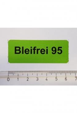 Aufkleber Bleifrei 95