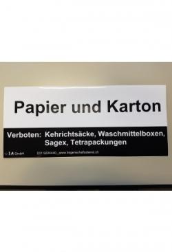 """Aufkleber """"Papier und Karton"""""""