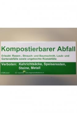 "Aufkleber ""Kompostierbarer Abfall"""