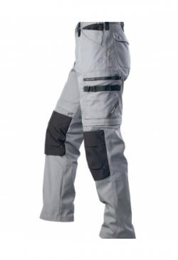 2-in-1 Arbeitshose grau/schwarz 1401