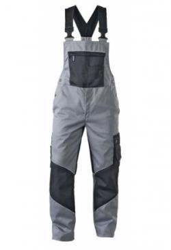 Latzhose grau/schwarz 1125