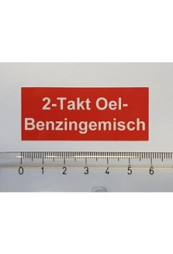 Aufkleber 2-Takt Oel-Benzingemisch
