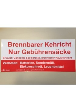 """Aufkleber für Container """"Kehricht"""""""