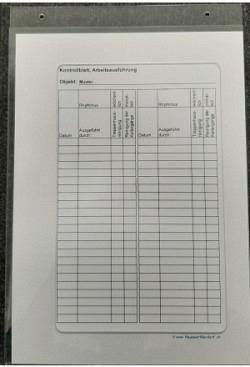 Dokumentenrahmen/Kontrollliste/Plakathalter