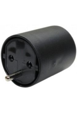 Adapter FIX CEE7/DE Kupplung T12 Stecker schwarz